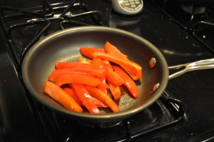 Red pepper pan