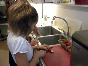 Madison Prepping Food