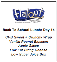 Back to School Lunch Menu Day 14