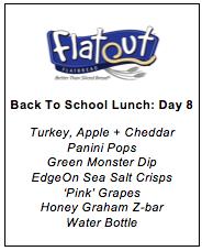 Lunch Menu Day 8