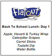 Lunch Menu Day 1