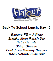 Lunch Menu Day 10