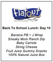 Lunch Menu Day 10