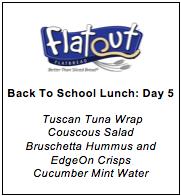 Lunch Menu Day 5