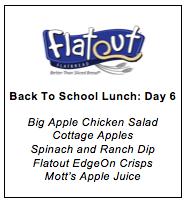 Lunch Menu Day 6