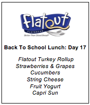 Back to School Lunch Menu 17