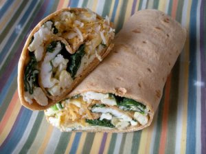 Flatout Scrambled Egg Wrap