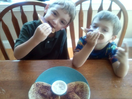 Boys Eating Cinnamon Toast